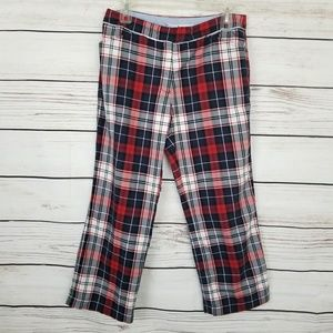 Tommy Hilfiger Plaid Cropped Pants